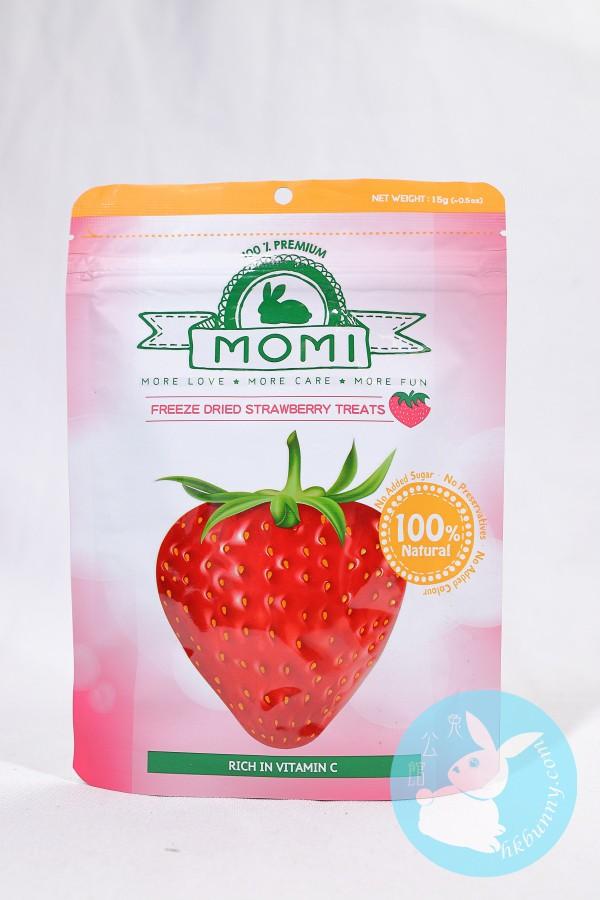 Momi 摩米 兔子草莓凍乾小食 15g