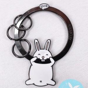 得意肥兔兔金屬製韓式鎖匙扣