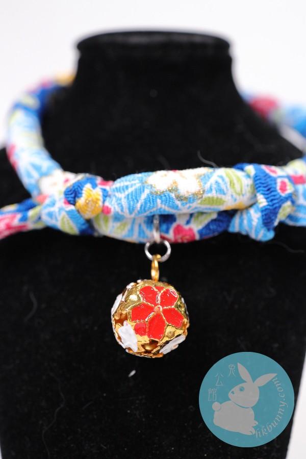 兔兔天竺鼠龍貓用日系頸繩(藍色)