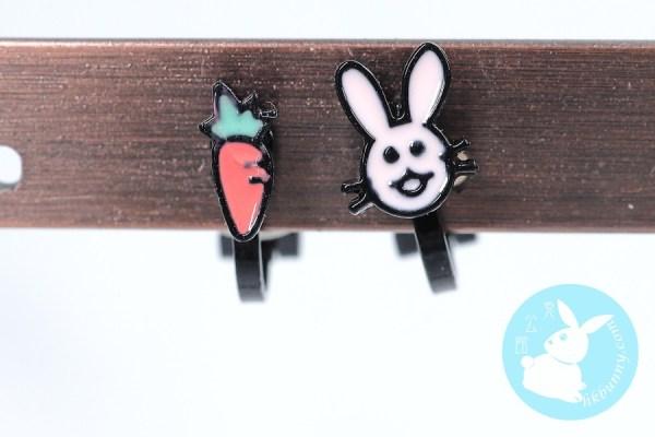 小型小兔耳環