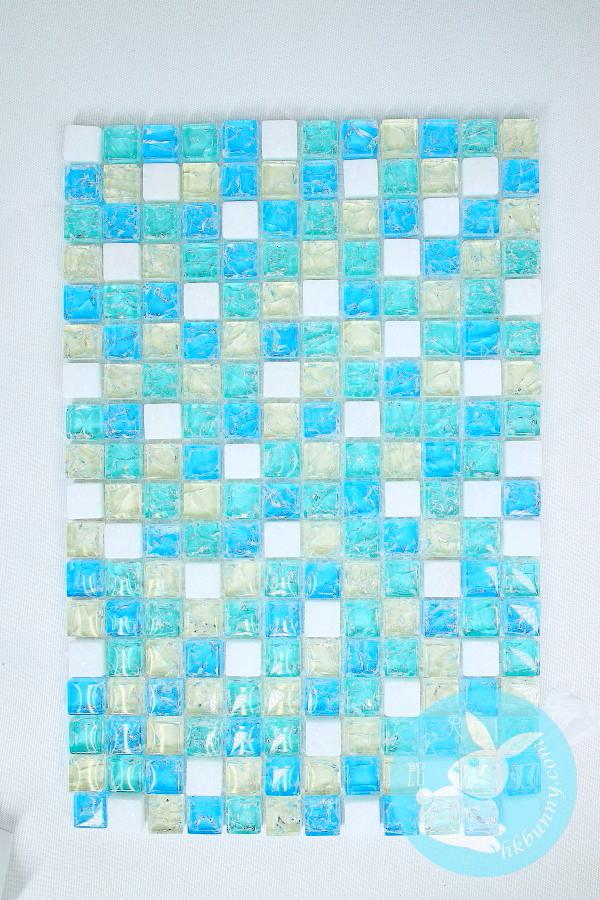 水晶破璃散熱板(藍色)