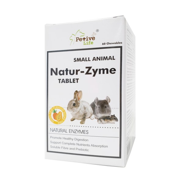 Petive Life Small Animal Natur-Zyme Tablet 60 Chewables