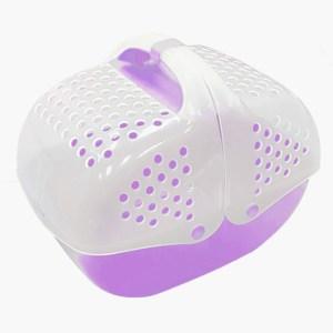 開頂式便攜外帶籠(紫色)
