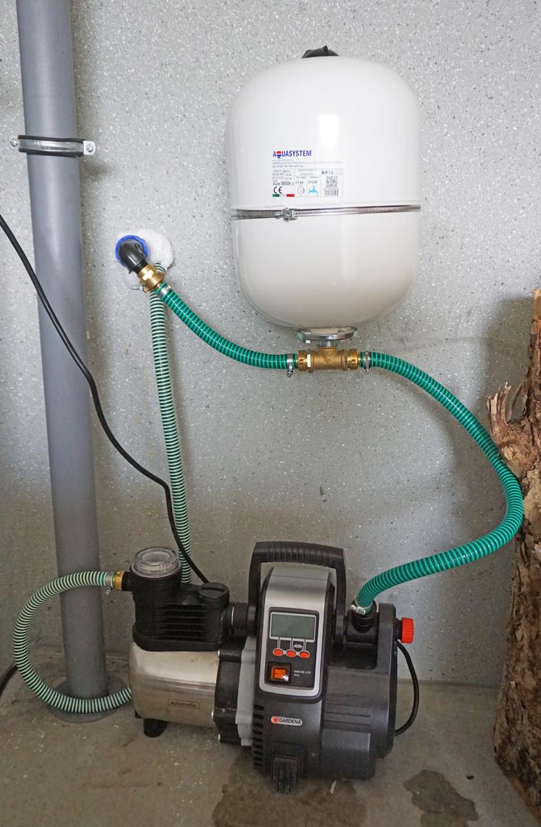 Ein automatisches Bewässerungssystem für unseren Garten / Pumpe und ...