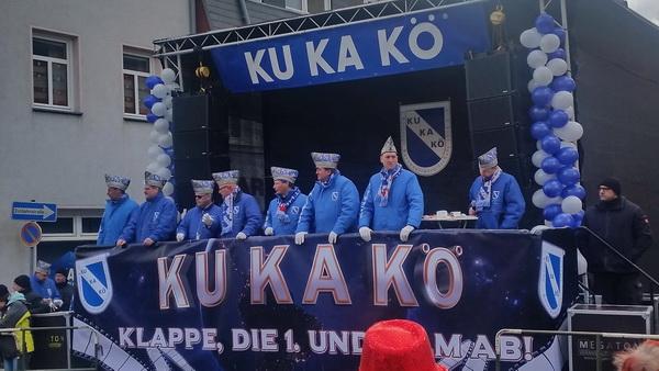 KuKaKö Bühne am Bärplatz zum Rosenmontag 2018