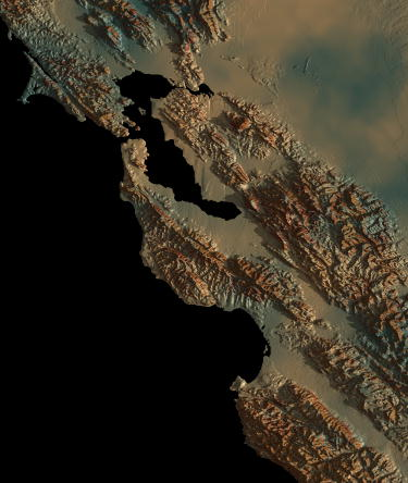 San Francisco Bay Area Relief Map
