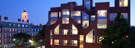 Taubman Building, Kennedy School of Government, Harvard University at night