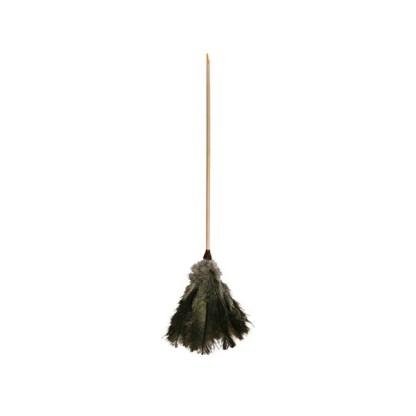 plumero avestruz mango madera largo