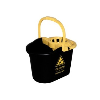 cubo + escurridor 16 litros caution negro