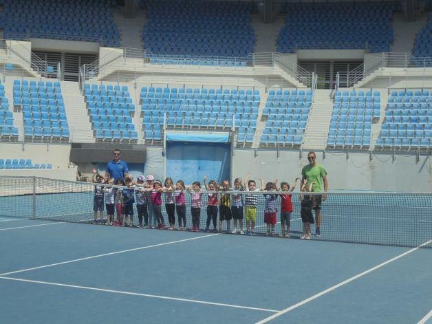 Εκπαιδευτική επίσκεψη στο ΟΑΚΑ - παιχνίδι τέννις