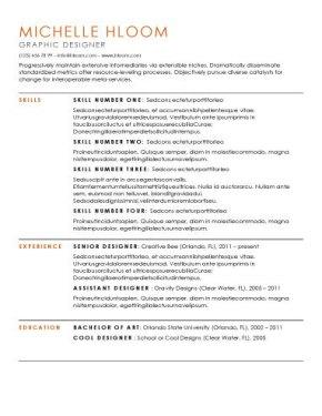 impressive resume template resume sample
