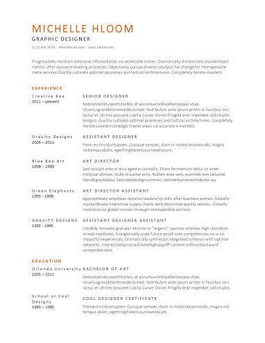 simple resume examples resume sample
