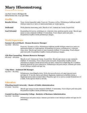 Ats Friendly Resume Templates Format 27 Samples Hloom