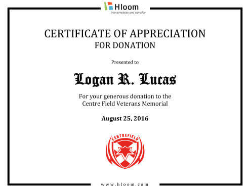 7 Printable Donation Certificates Templates Hloom