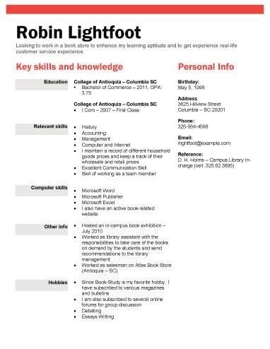 book or retail store position resume objective examples for retail