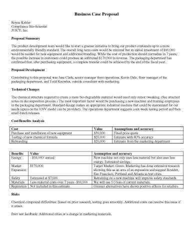 32 Sample Proposal Templates In Microsoft Word Hloom