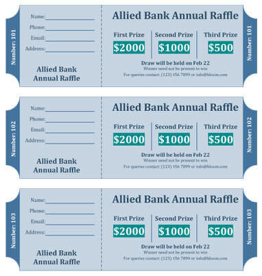 15 Free Raffle Ticket Templates In Microsoft Word Mail