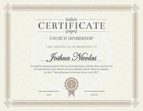 5 Certificate Of Membership Templates Free Download Hloom