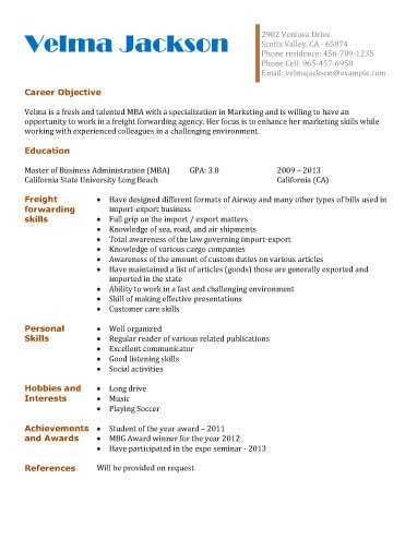 college student and graduate resume templates