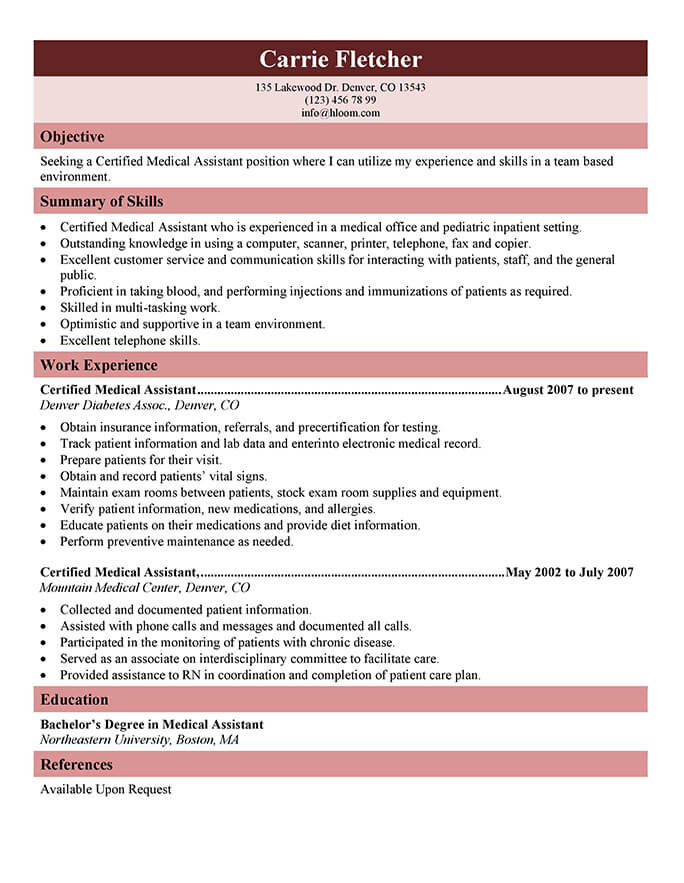 Resume Samples - Free Sample Resume Examples