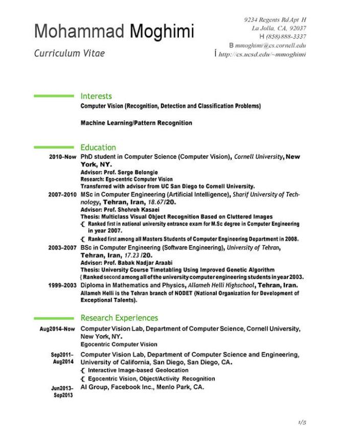 Internship Resume Template And Job
