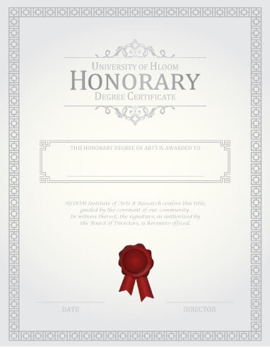 27 Printable Award Certificates  Achievement  Merit  Honor  Honorary Degree Certificate Template