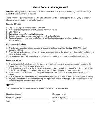 31 Sample Agreement Templates In Microsoft Word Hloom
