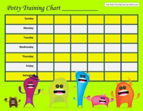 Download Free Potty Training Charts For Boys And Girls