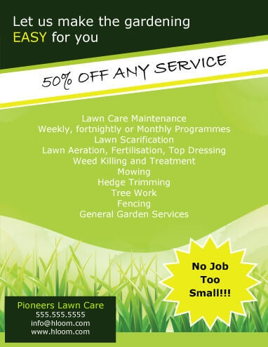 15 Lawn Care Flyers Free Examples Advertising Ideas Hloom