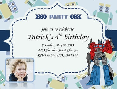 party invitations for kids