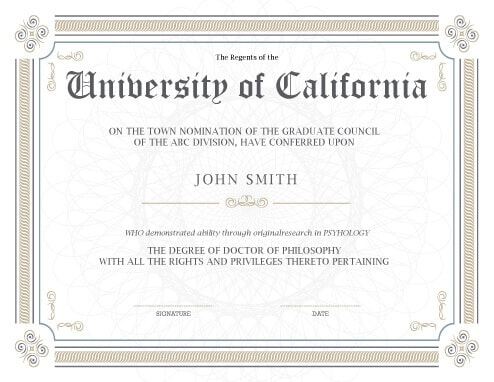 11 Free Printable Degree Certificates Templates Hloom