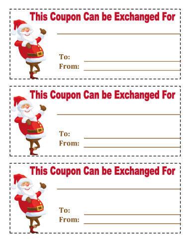 21 Free Printable Christmas Coupons