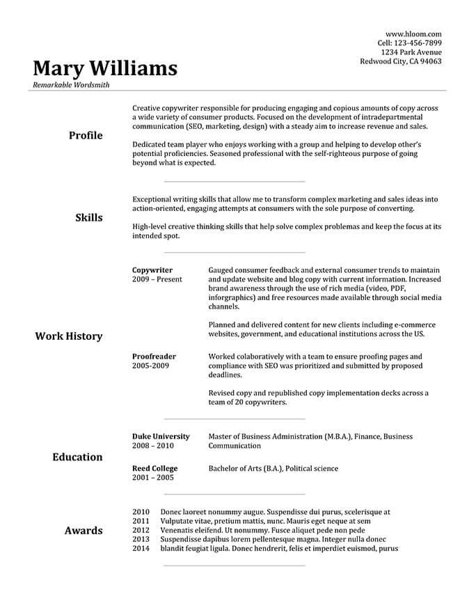 19 Free Resume Google Doc Templates Download Hloom