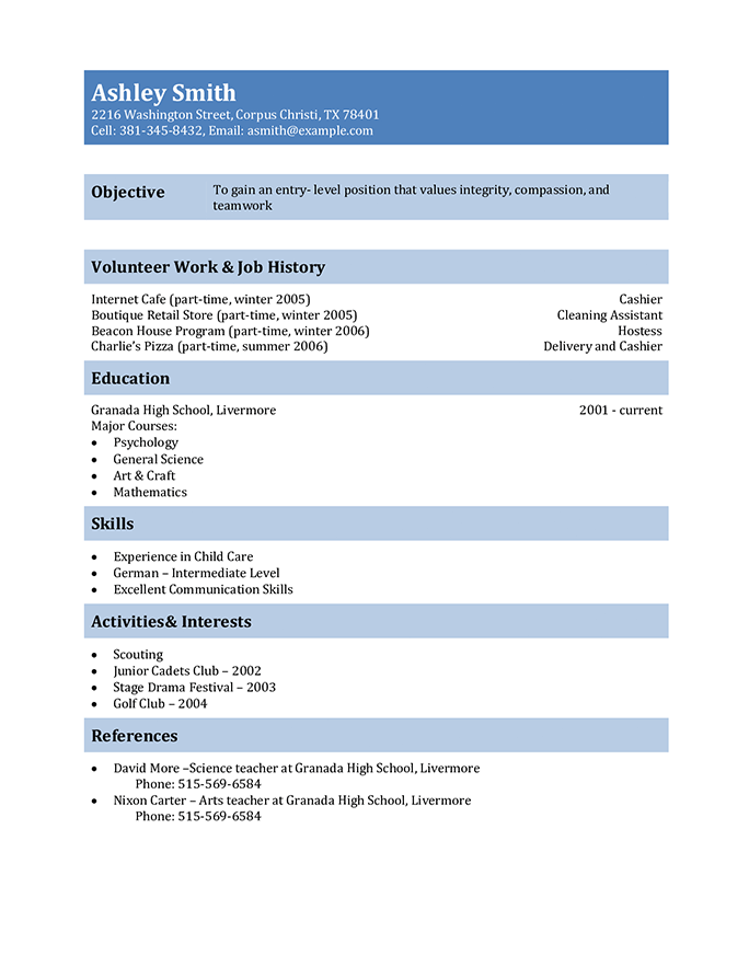 Student Resume Templates That Gets Results Hloom