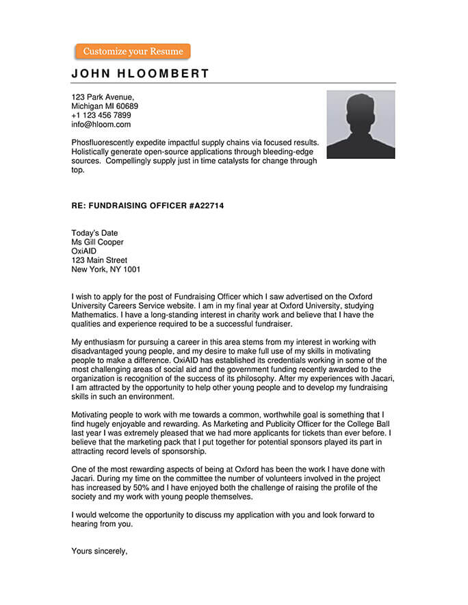 200 Free Cover Letter Templates For All Industries Hloom