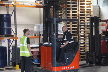 Forklift Operator Training in Progress