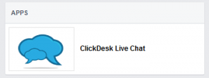 ClickDesk on Facebook - APPS