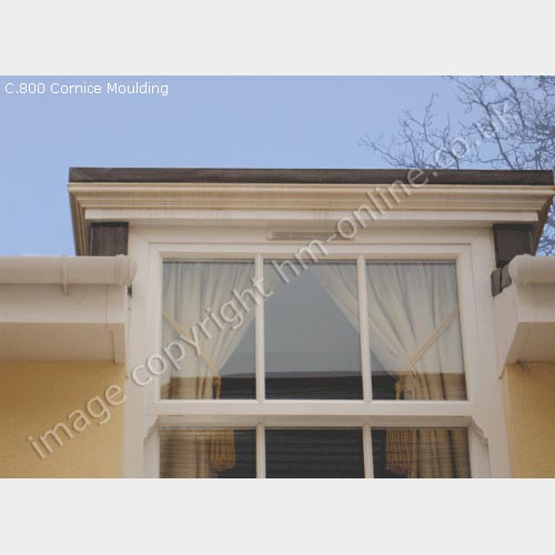 Exterior Mouldings Uk  above and left shows the front of the