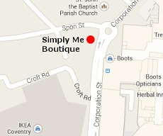 Skin Beautiful Coventry Clinic Location Map