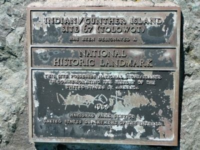 Indian/Gunther Island Site 67 (Tolowot) Marker Photo, Click for full size