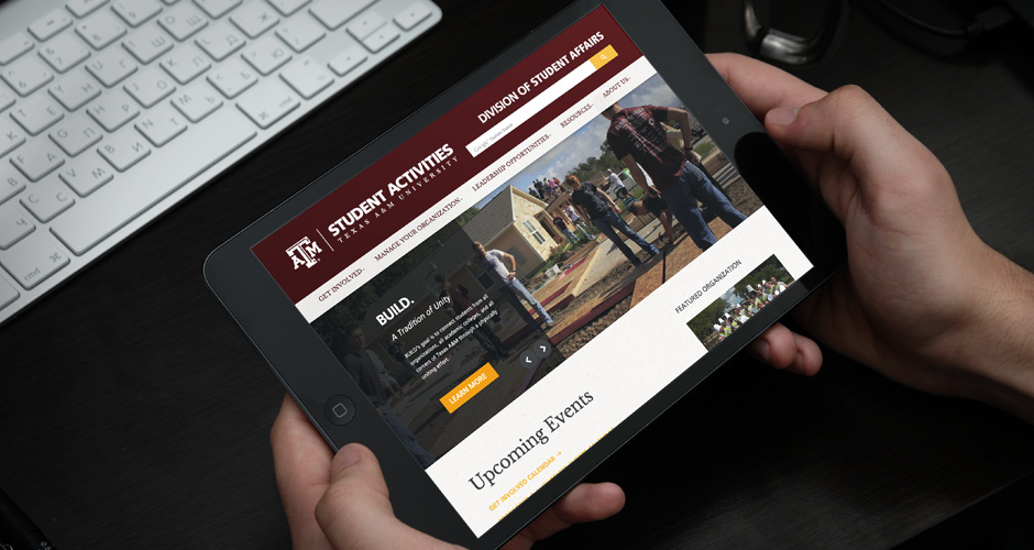 Redesigning Texas A&M's Student Activities Website