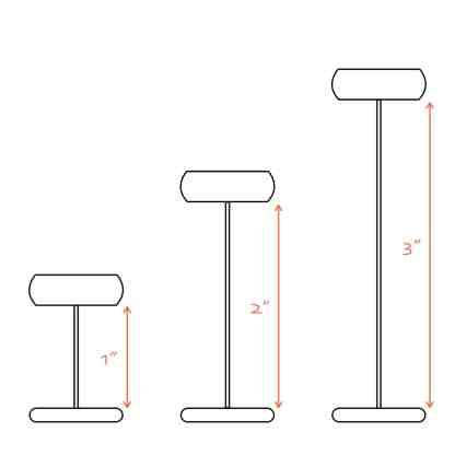 Laser II Barb Size Comparison