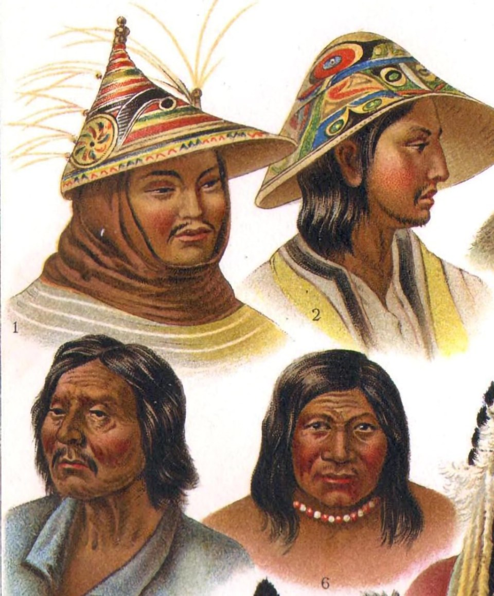 Types of North and South American Indians Chromolithograph 1906
