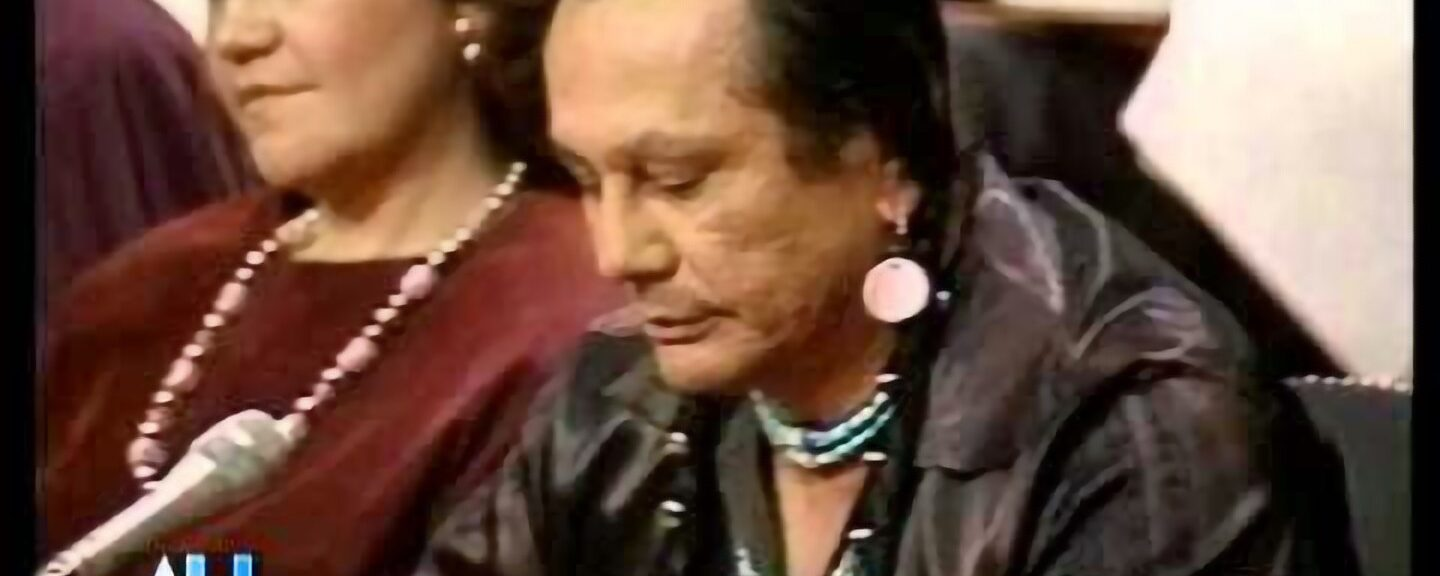 1989 – American Indian Activist Russell Means Testifies Senate Hearing
