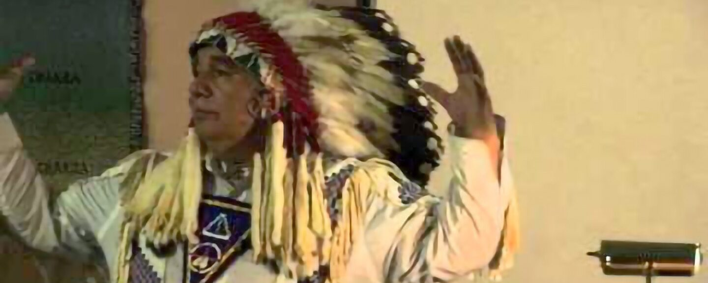Sioux Chief Taken Aboard Star Ship