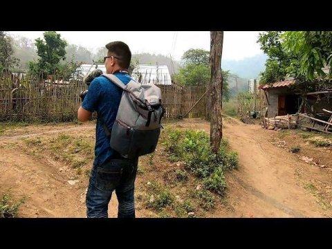 Hmong village in Luang Prabang Laos.