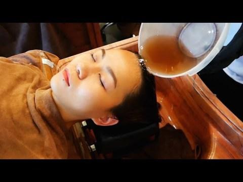 ASMR 중국 묘족 머리 청소 Chinese Miao(Hmong)Hair Treatment 中药头皮护理