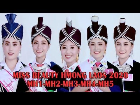 Peb ntxhais MH1-5 Miss beauty Hmong Laos New Year 2020 in Vientiane Capital Laos