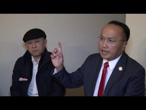 Mayor Steve Lee visit Fresno Hmong victim families