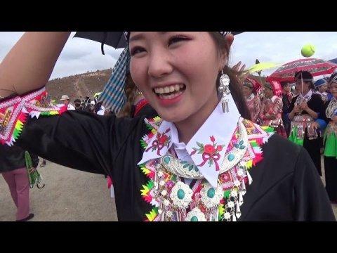Beautiful Hmong Girls In Laos/ Hmong Xiengkhouang New Year 2018-19 Day 5